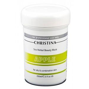 Яблочная маска красоты для жирной и комбинированной кожи, 250 мл / Sea Herbal Beauty Mask Green Apple, 250 ml