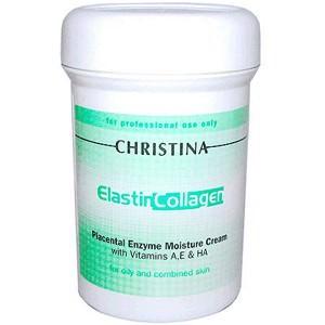 Увлажняющий крем с плацентой, энзимами, коллагеном и эластином,250 мл/Elastin Collagen Placental Enzyme Moisture Cream,250 ml