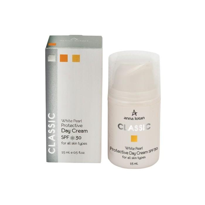 Увлажняющий крем с экстрактом жемчуга с SPF 30, 15 мл / White Pearl Protective Day Cream SPF 30, 15 ml