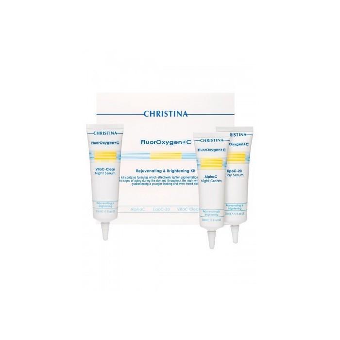 Набор косметических средств для осветления кожи, kit /  Fluoroxygen+C Rejuvenating & Lightening Kit, kit