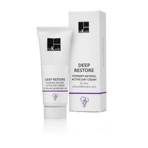 Дневной крем для жирной и проблематичной кожи 75 мл/ Deep Restore Hydroxy Retinol Day Cream for Oily and Problematic Skin 75ml