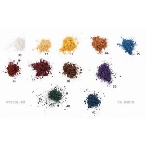 Минеральные рассыпчатые мерцающие тени для век: 11 оттенков 2 гр /  Shimmering mineral powder 2 gr