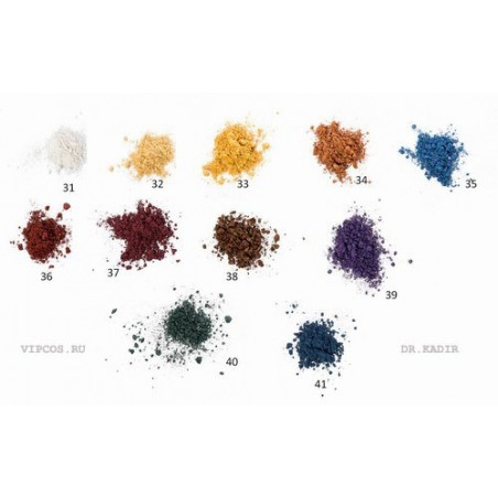 Минеральные рассыпчатые мерцающие тени для век: 11 оттенков, 2 гр /  Shimmering mineral powder, 2 gr